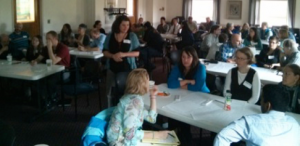 Classroom of teachers participating in professional development