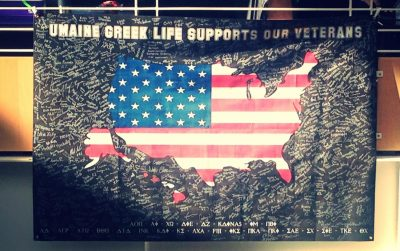 Greek Life Appreciation Banner for veterans week